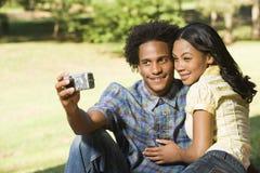 夫妇拍照 免版税库存图片