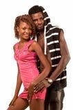年轻夫妇拥抱。 库存照片