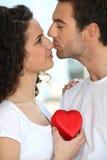 夫妇拥抱可爱 免版税库存照片