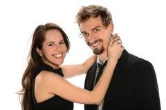 年轻夫妇拥抱 免版税库存图片