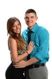 年轻夫妇拥抱 免版税库存照片