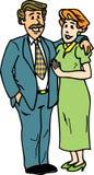 夫妇拥抱 向量例证