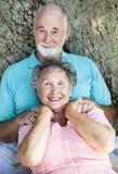 夫妇放松前辈 图库摄影