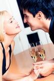 夫妇日期 免版税库存图片