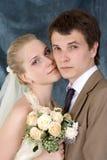 夫妇最近结婚了 库存图片