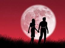 夫妇月亮 库存照片