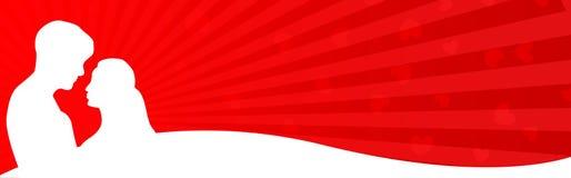 夫妇标头爱万维网 免版税库存图片
