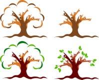 夫妇树商标 免版税库存照片