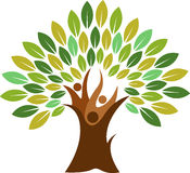夫妇树商标 免版税库存图片