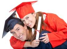 夫妇毕业生 免版税图库摄影