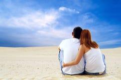 夫妇沙漠 免版税库存照片