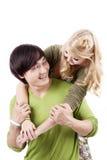夫妇浪漫年轻人 图库摄影