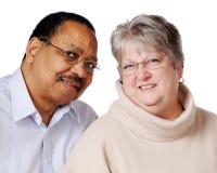 夫妇混合的族种前辈 库存图片