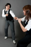 夫妇混合的舞蹈演员爵士乐 库存图片