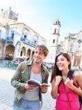 夫妇游客旅行 免版税库存照片