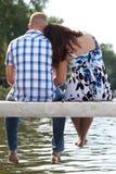 夫妇湖码头 免版税库存图片
