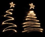 夫妇滑稽的闪烁发光物结构树 库存图片