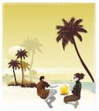 夫妇热带假期 免版税图库摄影