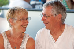 夫妇爱前辈 库存图片