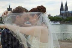 夫妇爱婚礼 免版税库存图片