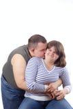 夫妇爱微笑的年轻人 库存照片