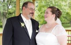 夫妇爱恋的注视 免版税库存照片