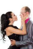 夫妇爱热情的纵向 图库摄影