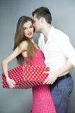 夫妇爱的年轻人 免版税库存图片