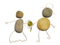 夫妇爱石头 免版税库存照片