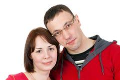 夫妇爱纵向 库存照片