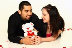 夫妇爱年轻人 库存图片