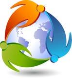 夫妇环球商标 免版税库存照片