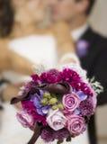 夫妇现代婚礼 库存照片