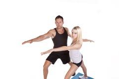 夫妇瑜伽 免版税库存图片