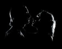 夫妇生动描述浪漫年轻人 免版税库存照片
