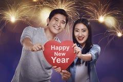 夫妇的新年概念 库存图片