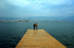 夫妇码头 库存图片
