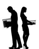 夫妇离婚男子一分隔妇女 免版税库存图片