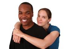 夫妇种族多 免版税图库摄影