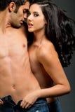 夫妇种族年轻人 免版税库存照片