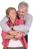 夫妇笑成熟 库存照片