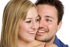夫妇笑 免版税库存照片