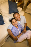 夫妇笑 图库摄影