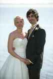 夫妇简单婚礼 免版税库存照片