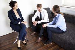 夫妇精神分析疗法 免版税库存照片