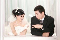 夫妇纵向婚礼 库存图片