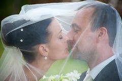 夫妇纵向婚礼 免版税库存图片