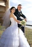 夫妇纵向年轻人 库存照片