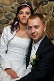 夫妇结婚了安装 免版税库存图片