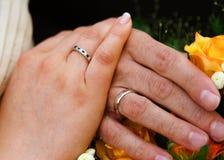 夫妇结婚了 库存照片